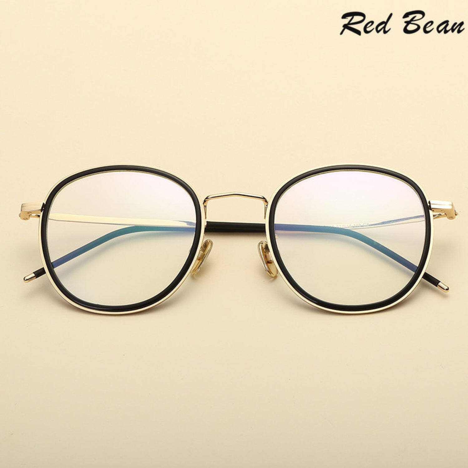 Yuxin Mall Korean version of the retro frame of men's art double ring glasses frame with myopia frames female tide round flat mirror wholesale