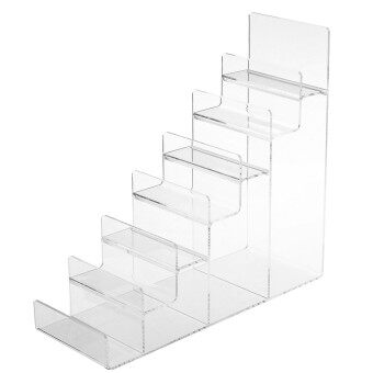 2016 New Arrive 7 Layer Acrylic Jewelry Display Holder Organizer Fashion Clear Black Rack For CD DVD Wallet Retail Clear