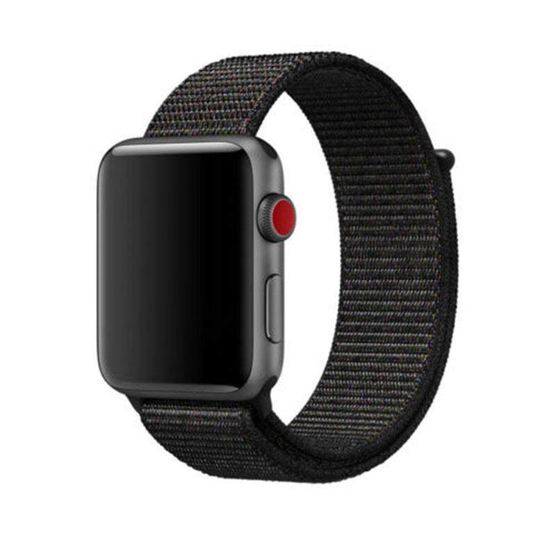 SA YANYI Fashion Simple Replacement Nylon Wristband Band Wrist Strap Bracelet for Apple Watch black 42mm