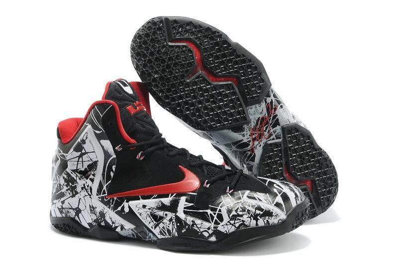 ยี่ห้อไหนดี  นครปฐม Nike Lebron 11 ผู้ชายสบายรองเท้าบาสเก็ตบอลแฟชั่นน้ำหนักเบารองเท้าวิ่ง (สีดำ/สีแดง)