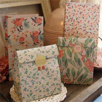ดอกไม้กระดาษดอกไม้ของขวัญ Treat ถุง Xmas PARTY Holiday คุกกี้สติกเกอร์กระเป๋า