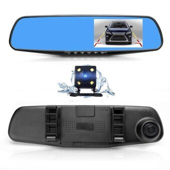 New 170° Dual Lens Car DVR Mirror Video Recorder High-definition Camera