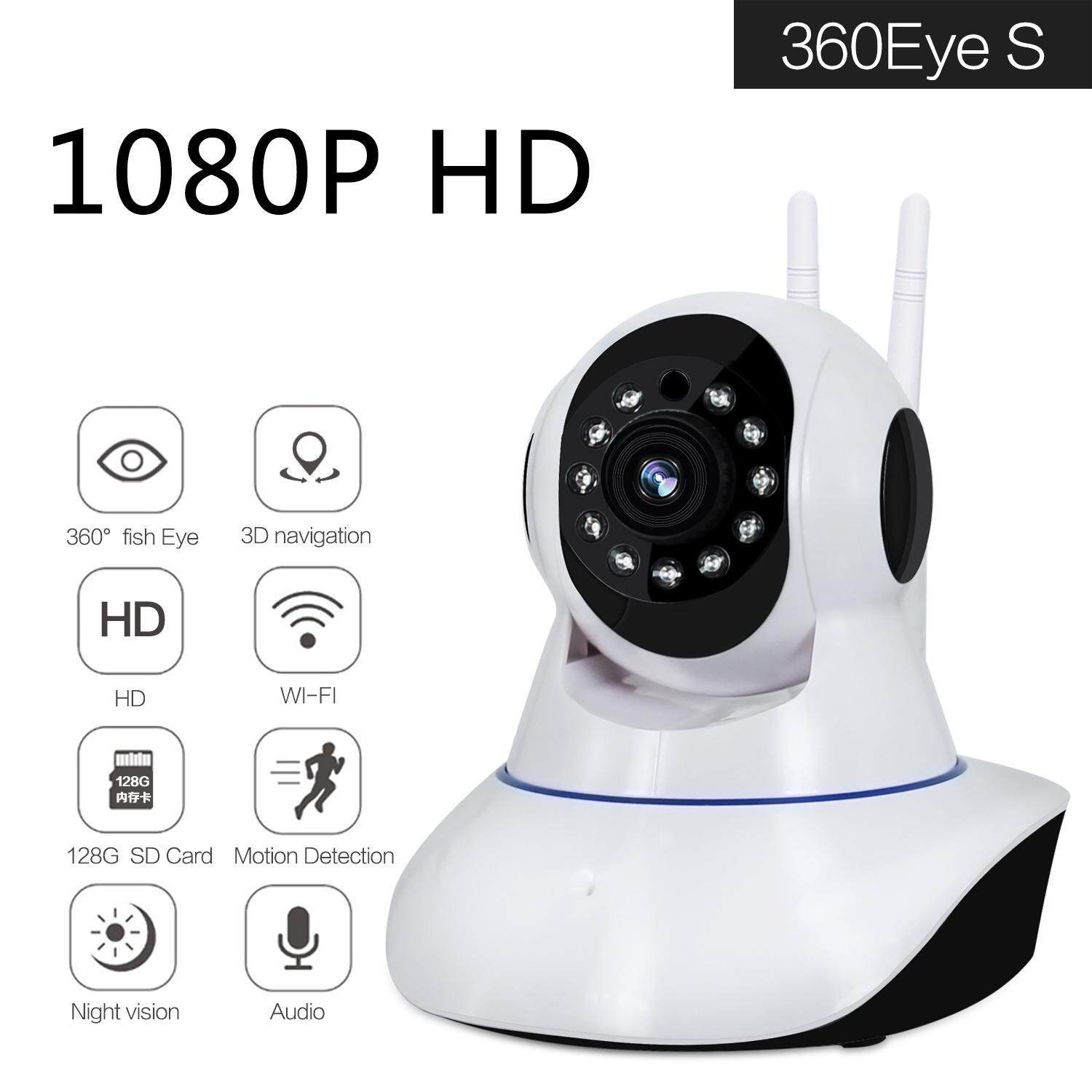 moob 1080P Security Camera Remote Monitoring Camera With Sound Night Vision Security Camera Indoor Wifi Security Camera With Motion Detection HD Camera For Home,Office,Store,EU Plug - intl