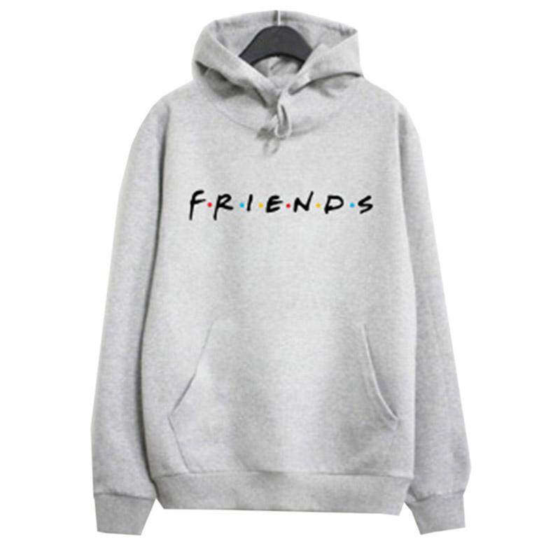 SUNNY Women Simple FRIENDS Letters Printing Autumn Leisure Loose Hoodies
