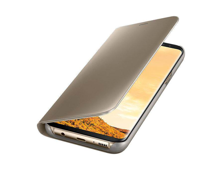 Samsung Galaxy S8 Clear View Standing Cover Gold