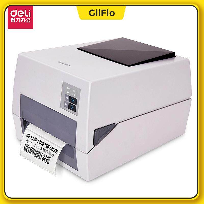 [2 in 1] DELI-820T High-end Printer Thermal+Thermal Transfer Printer  Jewelry Label Barcode Printer can print name sticker