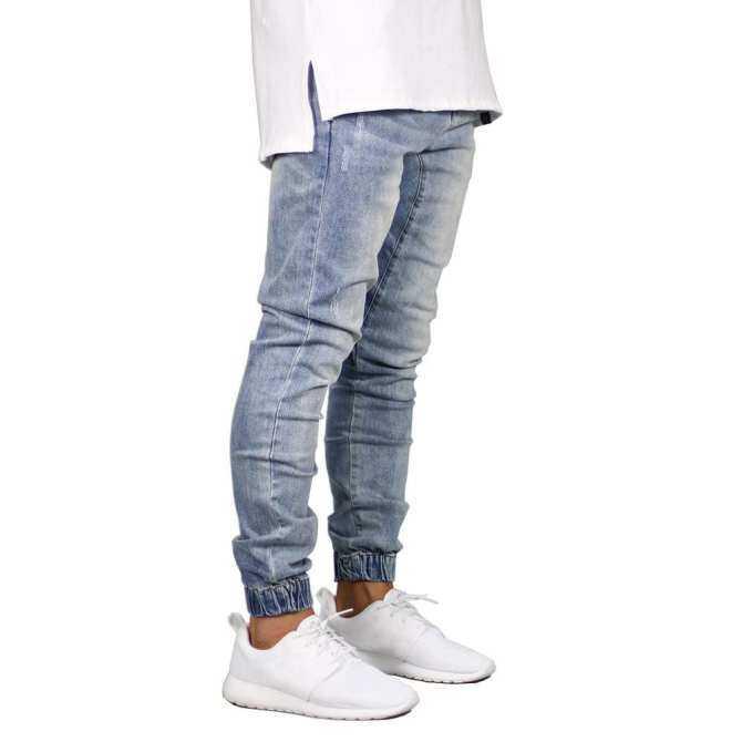 กางเกงยีนส์ยืดฉีกทำลาย, การออกแบบข้อเท้าแฟชั่นซิป, ยีนส์รัดรูปสำหรับชาย