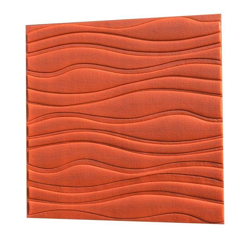 DIY 3D Three-dimensional Wall Panels Home Living Room Bedroom TV Background Mural Art Decoration Self-adhesive Waterproof Creative Wallpaper,orange