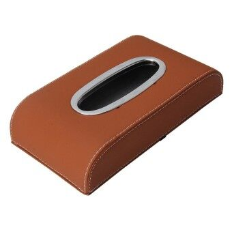 Universal Home Office Hotel Car Facial Tissue Box Case Holder Tissue Box Paper Napkin Bag (Not Include Napkin) (Brown)