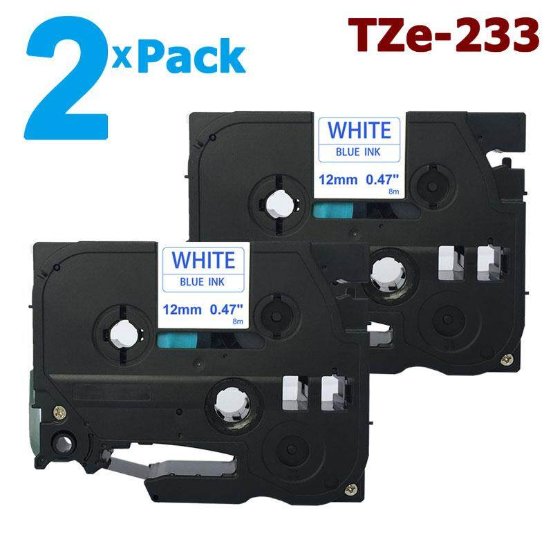 "TZe233 TZ233 TZE-233 Blue On White Label Tape For Brother P-Touch 1//2/"" 12mm"