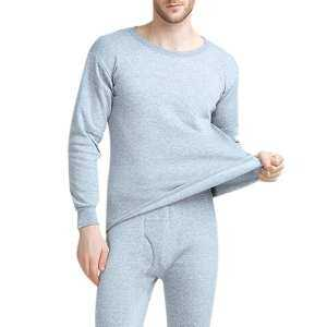 Hình ảnh SA 2PCS/Set Men Thermal Underwear Thickened Low Collar Warm Winter Thermal Set