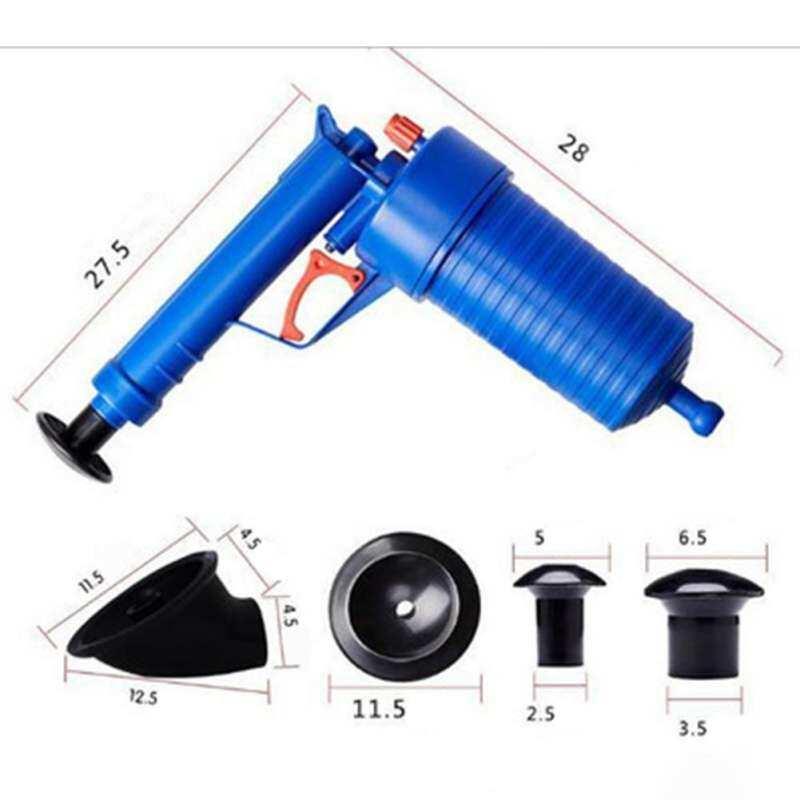 Magic Cube Toilets Bathroom High Pressure Air Drain Pump Plunger Sink Pipe Clog Remover Cleaner Kit