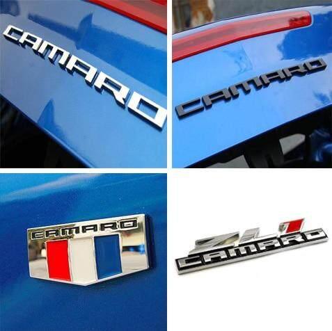 Black Metal ZL1 Badge Emblem Rear Trunk Hood Nameplate Sticker For Chevy CAMARO
