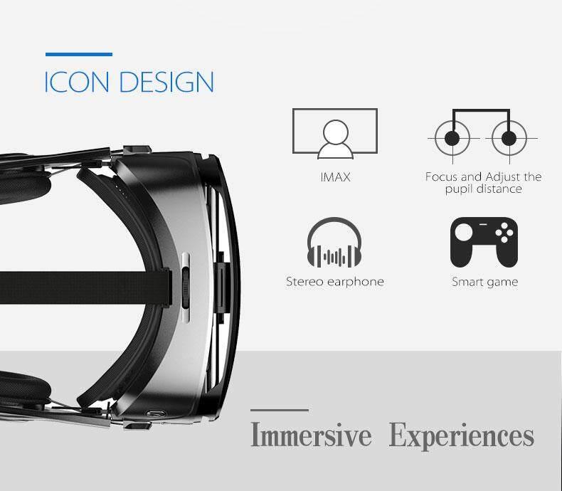 Giá Kính Thực Tế Ảo Stereo 3D VR Kính Hộp Tai Nghe Dành Cho 4.5-6.2 Inch IOS Điện Thoại Thông Minh Android