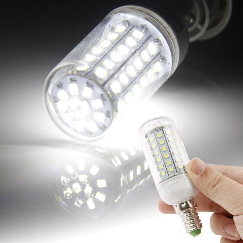 E14 White 6W 72 LED SMD 2835 Corn Light Bulb, AC 220V