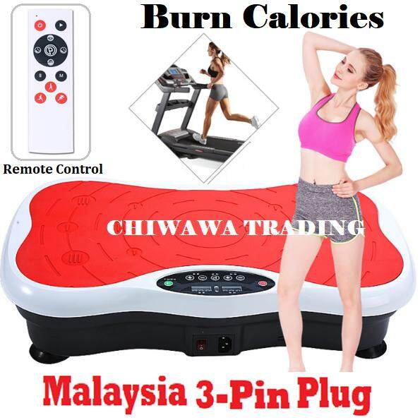 【FREE: Remote Controller】 Silent Plate Adjustable Speed Whole Body Vibration EZ Shaker Shaper
