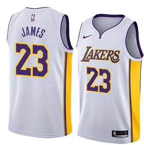 Small White Association Edition NO.23 For Man Swingman Jersey LeBron James NBA Los Angeles