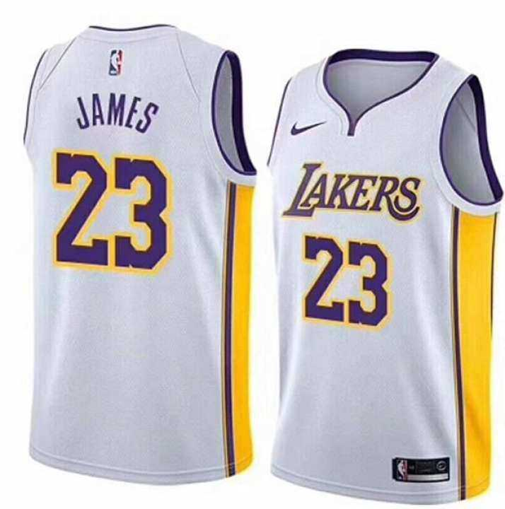 huge selection of f1bc2 1ef72 2019 Genuine 2019 Hot Small White Association Edition NO.23 For Man  Swingman Jersey LeBron James NBA Los Angeles Lakers Basketball Clothes  Breathable ...