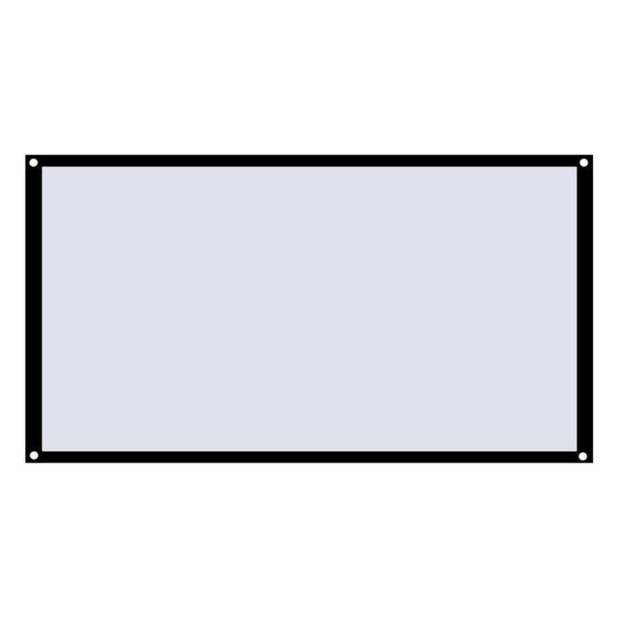 Đầu Đề Cập Đến 16:9 Nhà Màn Hình Chiếu Polyester Mềm Mại Sân Khấu Điện Ảnh Phim Video Màn Hình