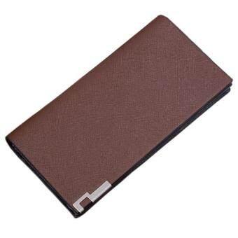 Dot Men Long Bifold Business Leather Wallet Money Card Holder Coin Bag Purse CO Stylish