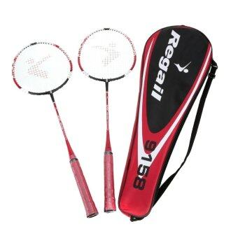 2Pcs Durable Lightweight Training Badminton Racket Racquet Sport Bag outdoor Carry Equipment with In