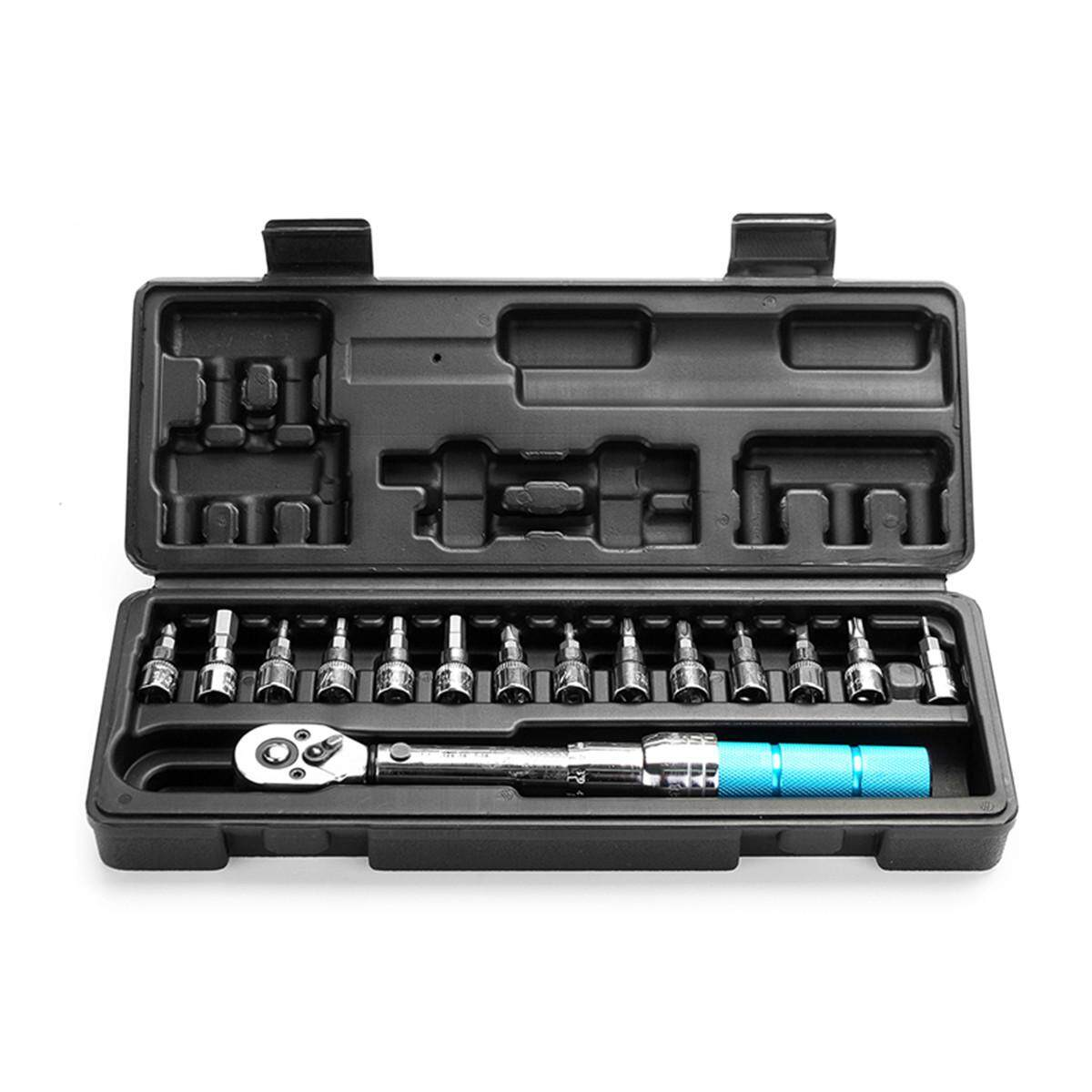 2~14NM 1/4 Bicycle Drive Torque wrench key tool Socket Set