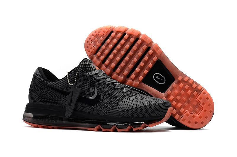 timeless design 0d3da 14754 Nike Air Max 2017 Men s Running Shoes Lightweight Sneakers (Black Orange)
