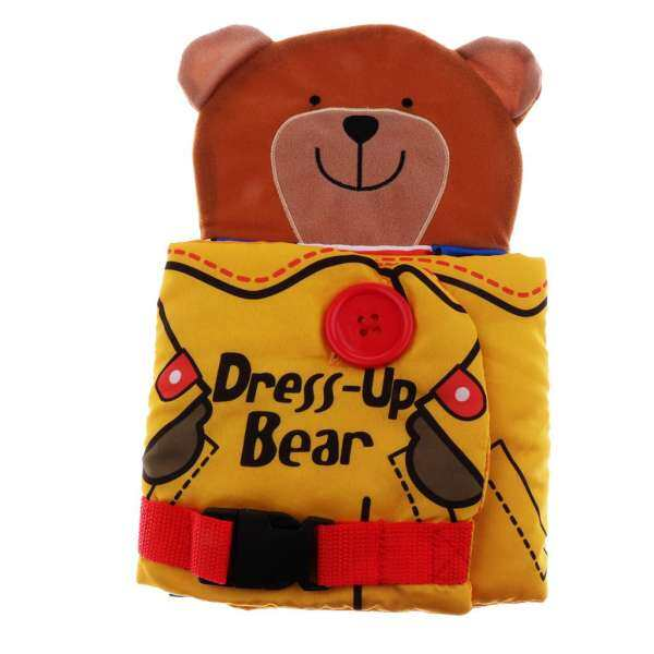 MagiDeal Baby Educational Intelligence Development Soft Cloth Cognize Book Toy Bear wear clothes