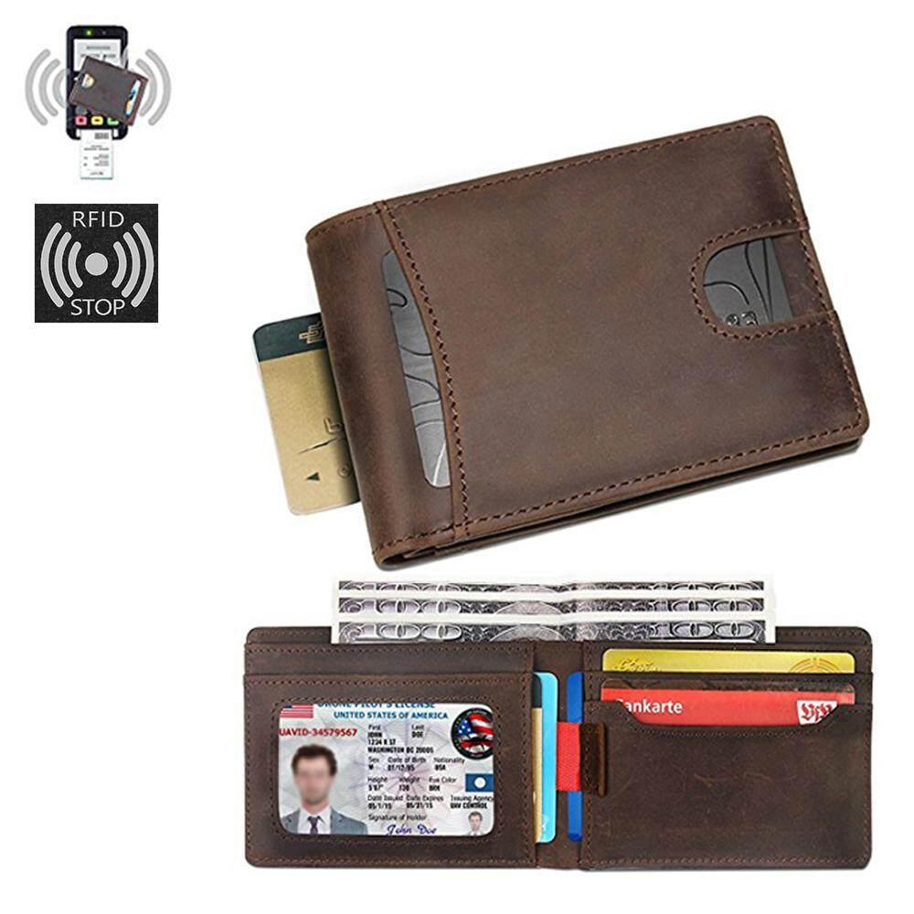 RFID Ví da chính hãng rút Tiện Lợi thẻ ví da