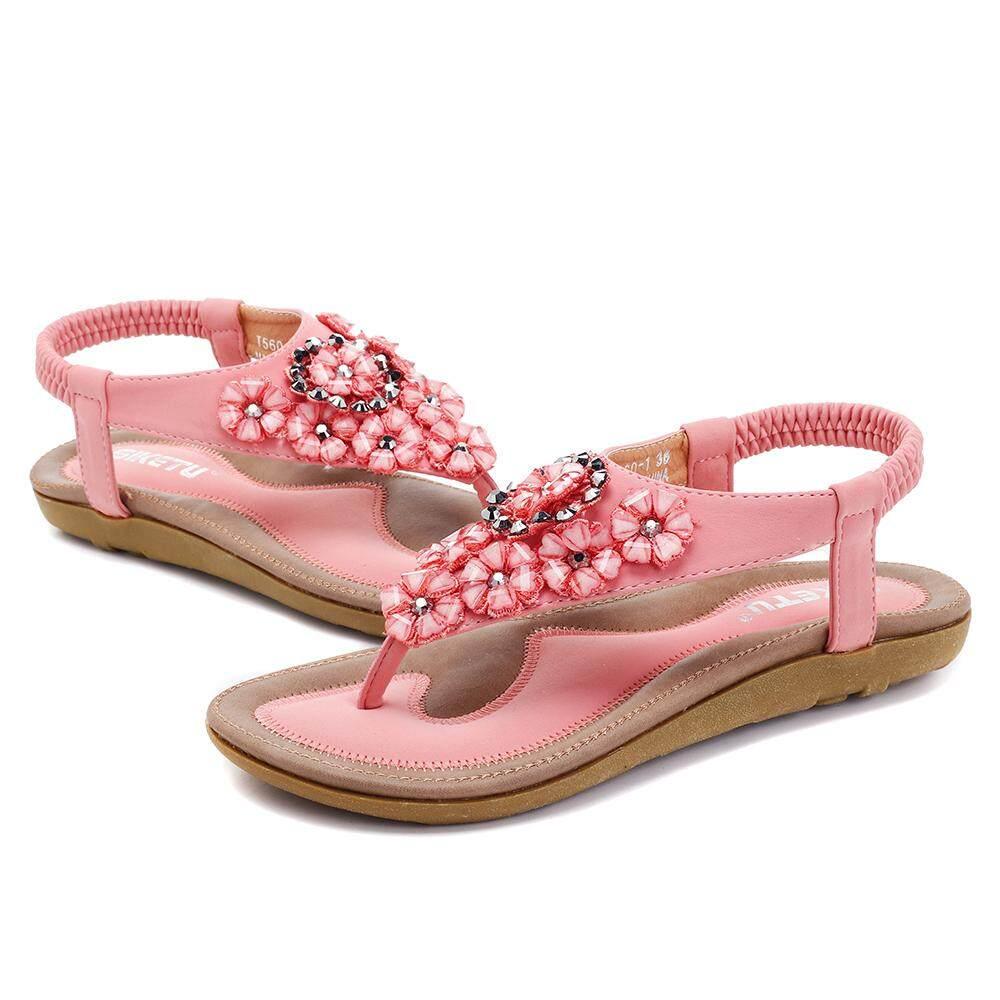 Odzież, Buty i Dodatki SOCOFY Women Bohemian Sandals Flowers