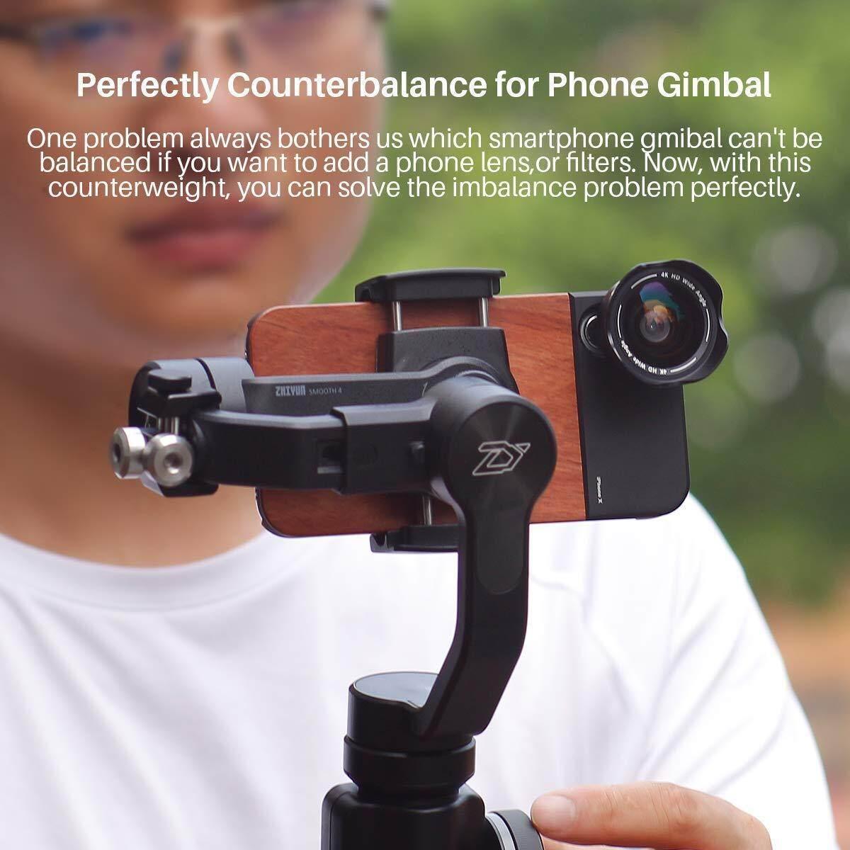 Counter Weight for DJI Osmo Mobile 2 Feiyu Vimble Zhiyun Smooth 4 Handheld Gimbal Phone Stabilizer Counterweight Moment Balance