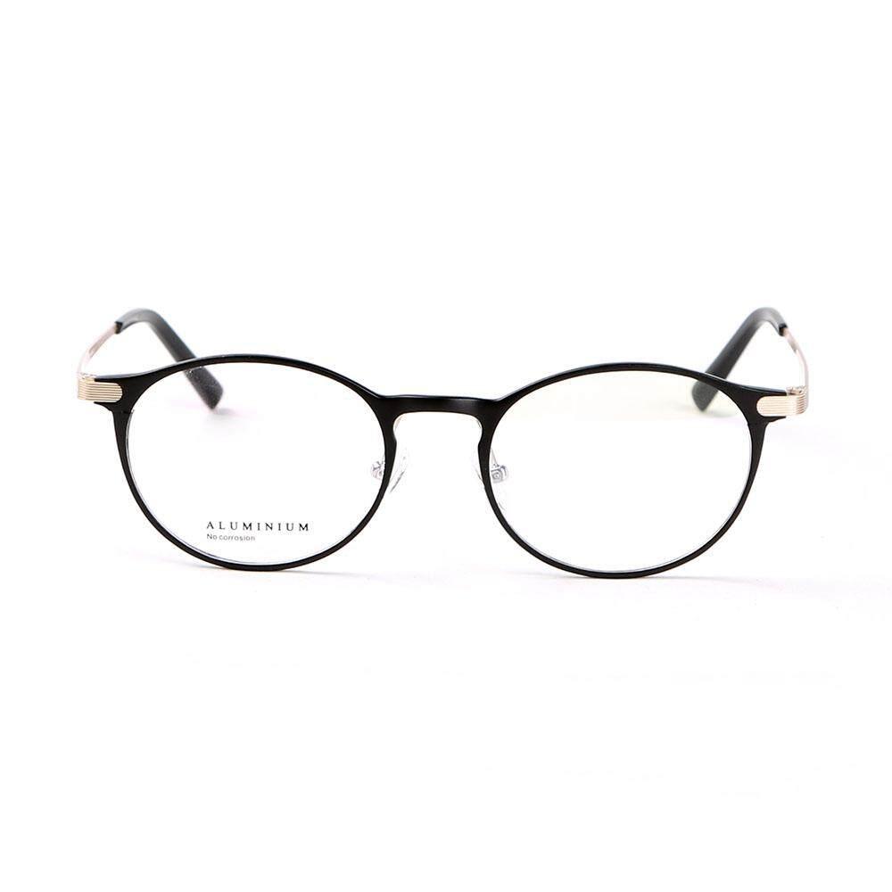 Stallane Bingkai Optik Gaya Aluminium Kacamata Oval Miopia Tontonan Kacamata Paduan Kacamata dengan Bingkai Penuh untuk