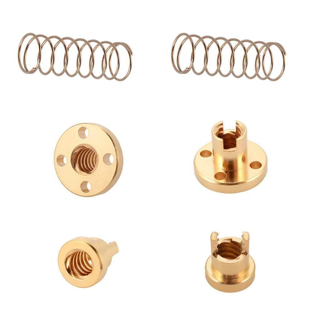 2 Pcs T8 Anti Backlash Spring Loaded Nut Elimination Gap Nut for 8mm Acme  Threaded Rod Lead Screws Specification:T8