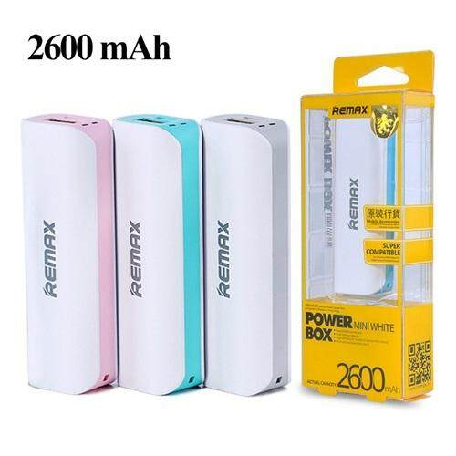 Remax Mini White 2600mAh Power Bank Handy Tiny Colourful 2600