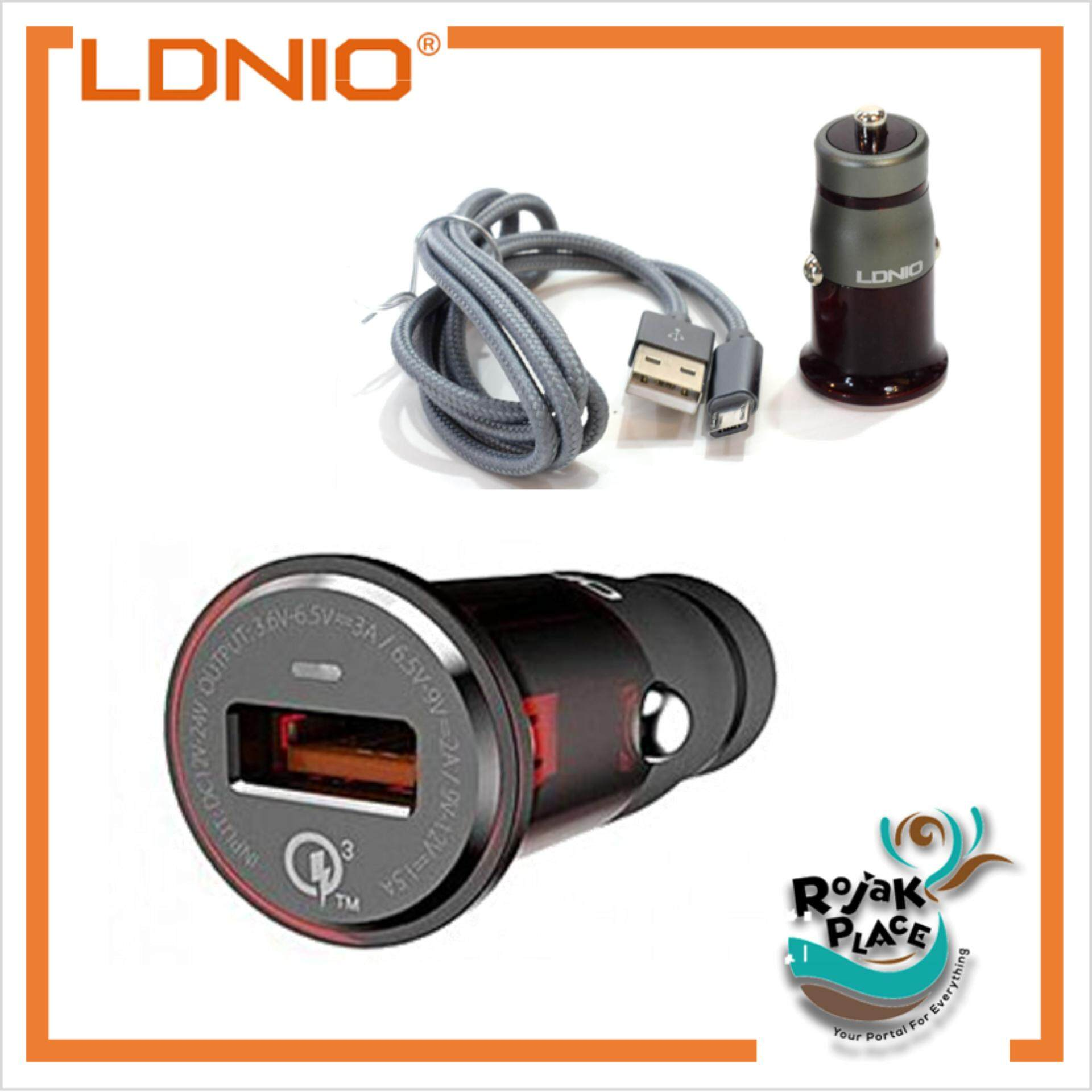 Customize Your Car Mobile Charger Batok Saver 2 Usb Ldnio C304q Qualcomm 30 Quick Charge With Cable