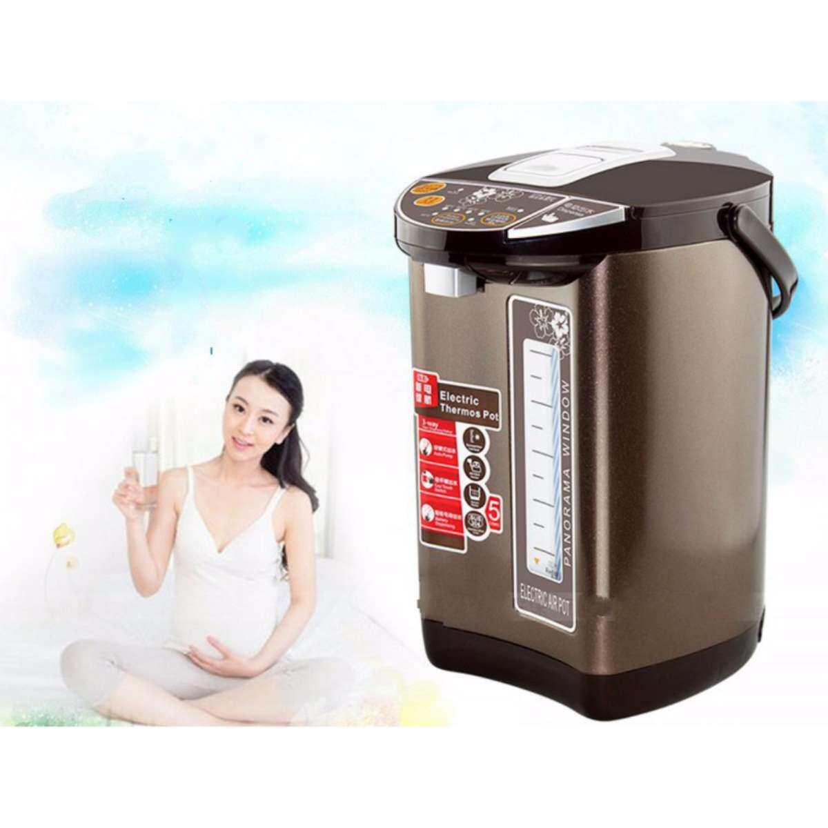 heat preservation of household 304 stainless steel water boiler 5 l double automatic electric kettle