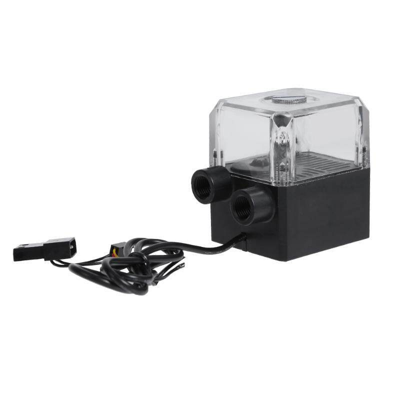 130ml Water Tank SC-450 650L/h G1/4 Thread 12V DC 1.2A Silent Computer Water Cooling Circulating Pump for PC Water Cooling