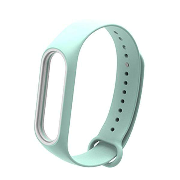 Fashion Replacement Silicone Wriststrap for Miband 3 Xiaomi 3 Smart Bracelet (Sea Color)