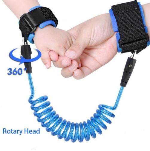 360 Degree Anti Lost Wrist Link Toddler Leash Safety Harness for Baby Strap Rope Outdoor Walking Hand Belt Band Anti-lost Wristband Kids(2.5M) image on snachetto.com