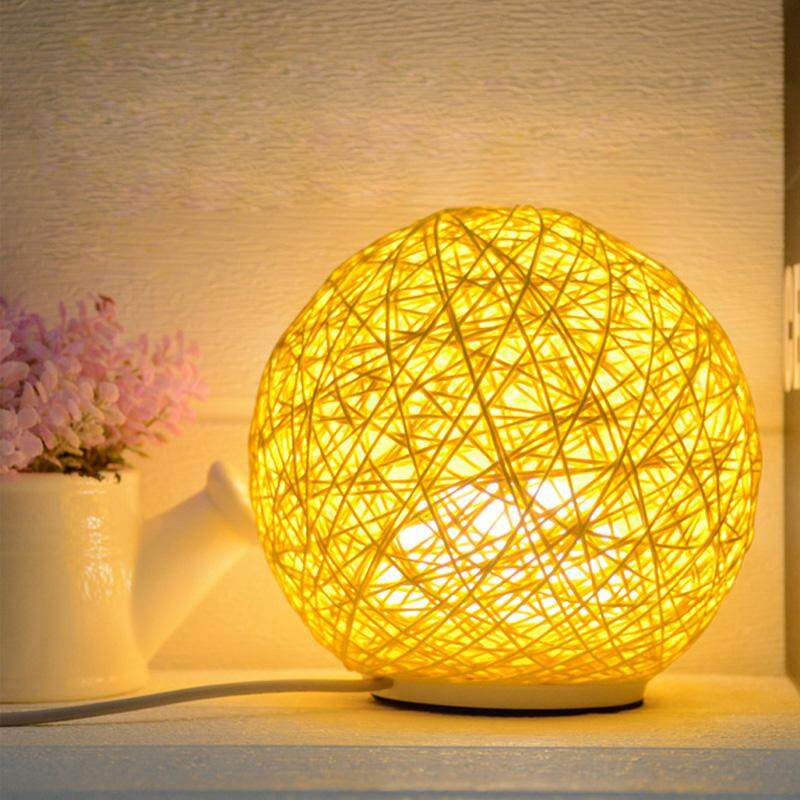 Sepak Takraw LED Retro Style Small Table Lamp Bedroom Night Light With 3 Colors Light Changing For Choose