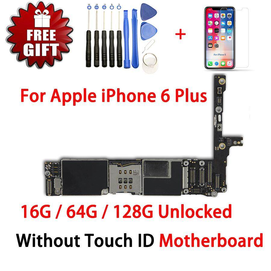 reputable site 57a0b 1b4f7 For Original iPhone 6 Plus 5.5inch Motherboard IOS System Mainboard Full  Unlocked No Touch ID Logic Board Good Working