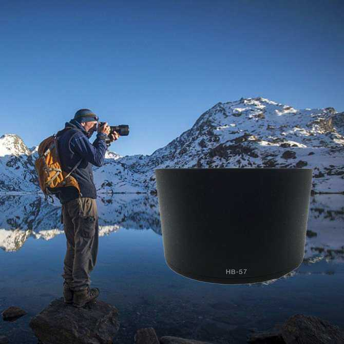 WOND Nghề Nghiệp Lens Hood Thay Thế HB-53 Cho Nikon AF-S DX 55-300 mét F4.5-5.6 G ED VR