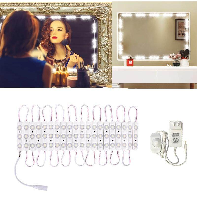 Hollywood Style Dimmable 60 Led Makeup Mirror Lights, Vanity Dressing Mirror Lights 10ft, 6000k Diy Lights For Bathroom Cosmetic Vanity Table