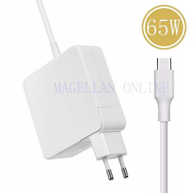 65W USB C Type-C PD Charger Power Supply Adapter For Apple Macbook Type C laptops, Type C Smart Phones (UK/US/EU Plug)