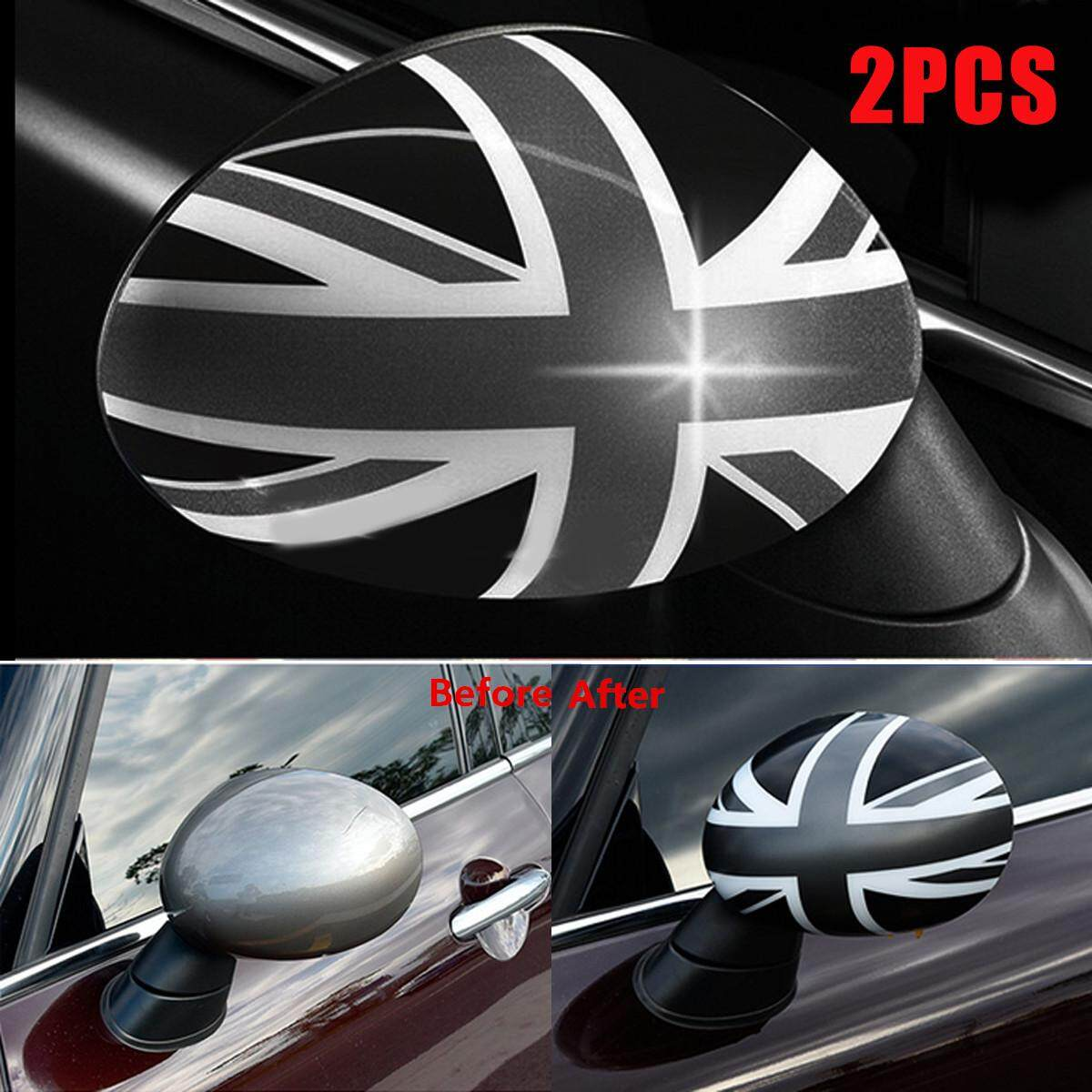 2x Union Jack WING Mirror Covers for MINI Cooper R55 R56 R60 Power Fold Mirror P