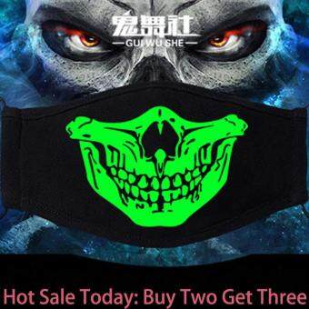 PM2.5 High Quality Fashion Noctilucence THIN Skull Bike Motorcycle Cycling Helmet Neck Face Mask Bandana KO2 Buy Two Get Three