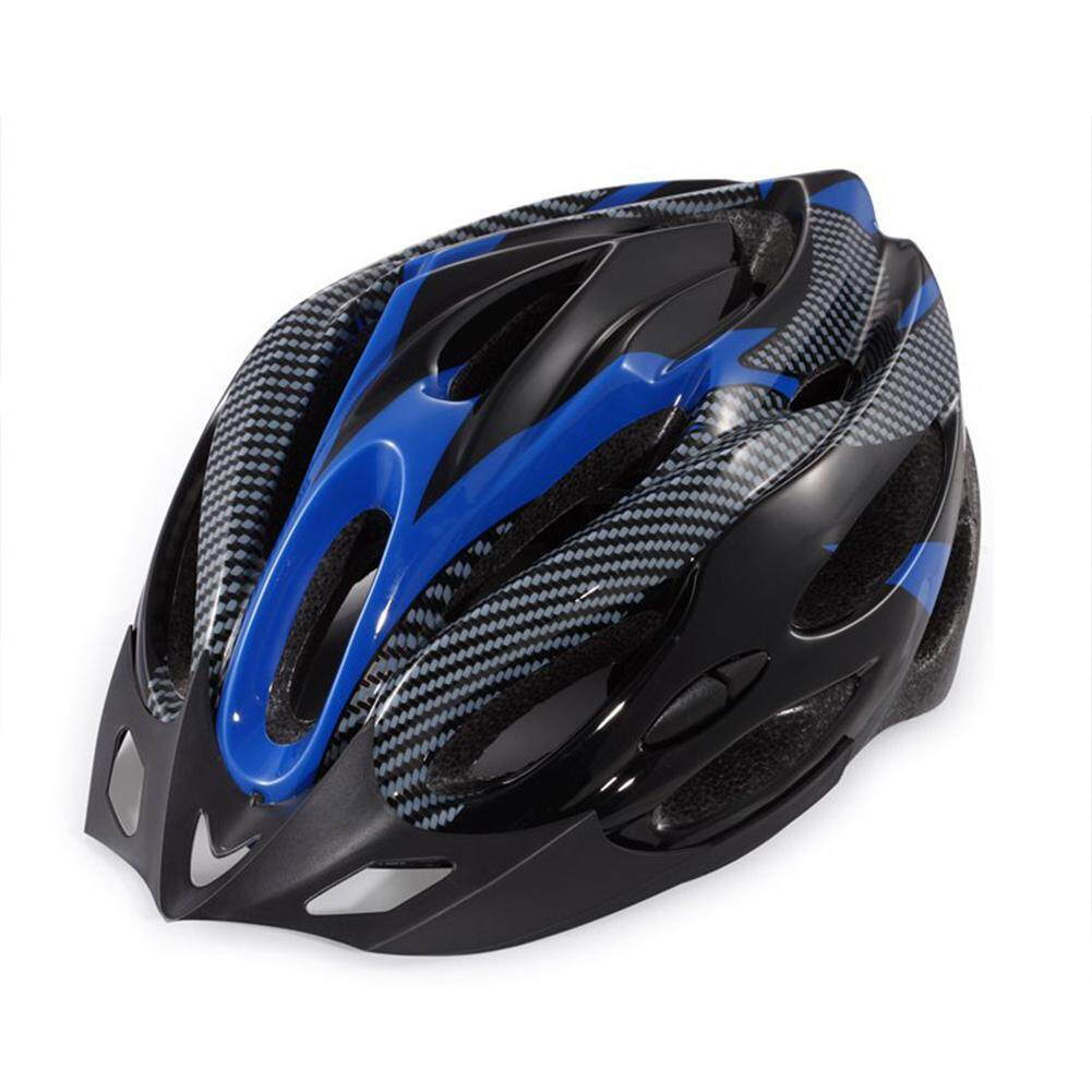 TG Unisex Blue Black Cycling Riding Helmet Universal Nonintegrated Molding Helmet