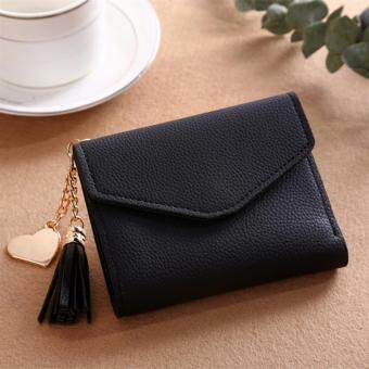 974e92457b3 Women Mini Tassel Wallet Card Holder Clutch Coin Purse Leather Handbag  Purse#black