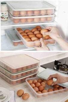24 กริดกล่องเก็บไข่กล่องตู้เย็นไข่พลาสติกที่มีฝาปิด – นานาชาติ