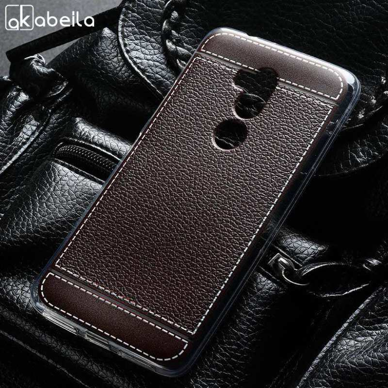 ZZOOI Akabeila Lembut Tpu Ponsel Sarung Kasus untuk Alcatel A7 XL A7 XL 7071DX 6.0 Inch Meliputi Litchi Telepon Silikon Tudung kerangka Belakang Anti Selip Penuh Pelindung-Internasional